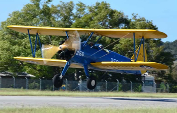 Take an Adventure Flight in a 1941 Stearman Army Bi-Plane